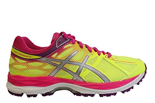 Asics Zapatillas de Running Gel-Cumulus 17 Gs Amarillo / Vino / Rosa EU 39