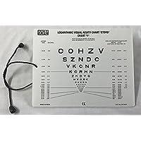 Sloan Lettre Near Vision Eye Chart avec cordon de 40,6cm