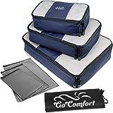 Extrem strapazierfähiges Packtaschen-Set | ideal für Koffer und Rucksack | mit zusätzlichem Wäschebeutel und praktischen Ziploc-Bags