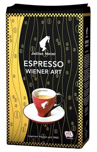 Julius Meinl Espresso Wiener Art, Ganze Bohne - 1kg - 2x (Kaffeebohnen Wien, Ganze Bohne)