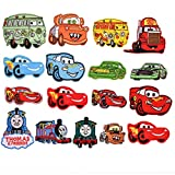 Mingjun Lot de 17 patchs thermocollants ou cousus pour enfants Motif voiture/camion de pompiers