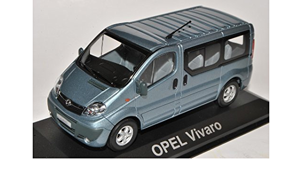 Minichamps Opel Vivaro Transporter Personen Blau Grau Ab 2001 1 43 Modell Auto Spielzeug