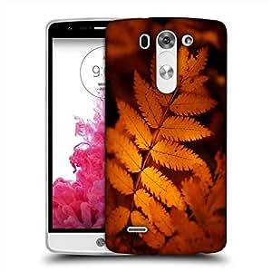 Snoogg Orange Leaves Designer Protective Phone Back Case Cover For LG G3 BEAT