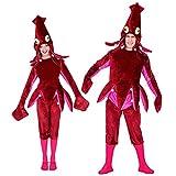 WIDMANN 02603adultos Disfraz Calamar, unisex–Adultos, vino rojo