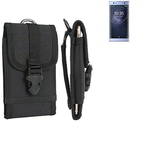 K-S-Trade Handyhülle für Sony Xperia XA2 Ultra Dual-SIM Gürteltasche Handytasche Gürtel Tasche Schutzhülle Robuste Handy Schutz Hülle Tasche Outdoor schwarz