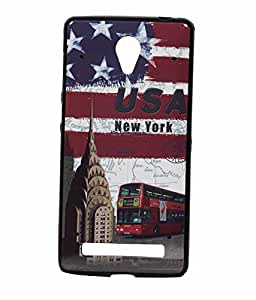 New York Exclusive Rubberised Back Case Cover for Vivo Y28