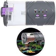 Alimentador con temporizador para acuario, tanque, alimentador automático para peces y alimentos de mascotas acuáticas, dispensador de alimentación que ...