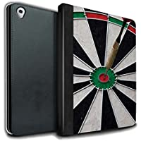 STUFF4 PU Leather Book/Cover Case for Apple iPad Pro 9.7 tablets / Bull/Bullseye Design / Darts Photo Collection