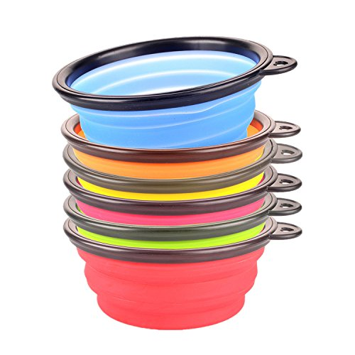 yuno-rainbow-color-collapsible-travel-bowl-silicone-portable-pet-dog-cat-food-water-bowl-set-of-6