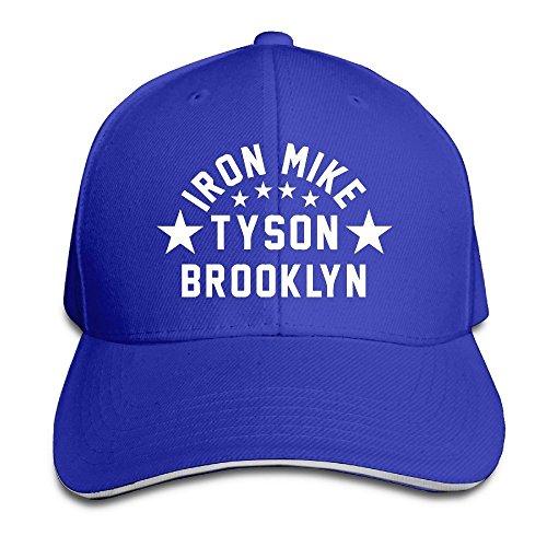 trithaer-custom-iron-mike-tyson-brooklyn-adjustable-sandwich-hunting-peak-ha-cap-blu-reale-taglia-un