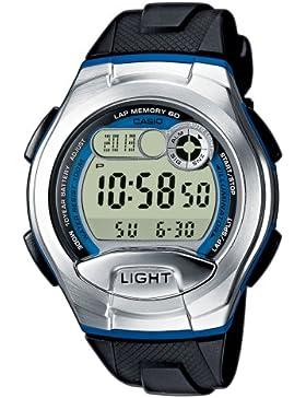 Casio Collection – Unisex-Armbanduhr mit Digital-Display und Resin-Armband – W-752-2BVES