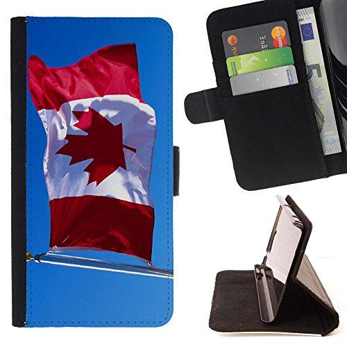 """Graphic4You Vintage Uralt Flagge Von Kanada Kanadier Design Brieftasche Leder Hülle Case Schutzhülle für Apple iPhone 6 Plus / 6S Plus (5.5"""") Design #8"""