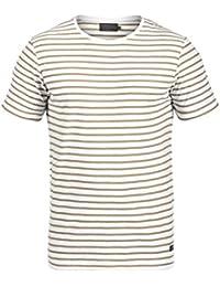 PRODUKT Luis Herren T-Shirt Kurzarm Shirt Mit Streifen Und  Rundhalsausschnitt 100% Baumwolle 9f7448b86f