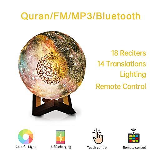 Swthlge New Colorful LED Touch Quran Speaker 8GB FM MP3 Speaker Night Light Hajj umrah