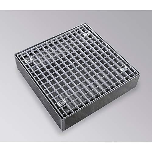 certeo-flach Eimer aus verzinktem, Breite 500mm, 20l Fassungsvermögen-Paletten Tabletts Niveau Niveau Palette Rampe Spülen Aufbewahrung und Stationen der Tabletts Kollektion flach Tabletts Niveau Tabletts Paletten Rampe Equalizer -