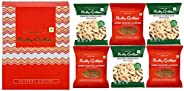 Nutty Gritties Roasted Salted California Almonds Cashews Nuts Weekly Snack Pack of 6 ( 3 pcs Salted Cashews an