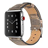 maison de rêve Armband für Apple Watch 42mm, Apple Watch Armband Leder Armband Vintage Echtleder Uhrenarmband für iWatch Series 1, Series 2, Series 3, Apple Watch Sport Edition und Nike+