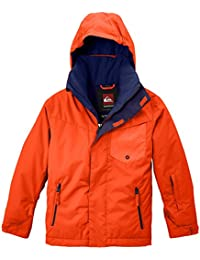 Quiksilver Snowboard Jacke Mission Y Jacket - Chaqueta de esquí para niño, color naranja (mandarin red), talla M