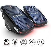 Koowheel Patines eléctricos, patines de deriva con dos zapatos, mini rueda de flash, Hovershoes, 3,5, 2 x 250 motores hoverboard