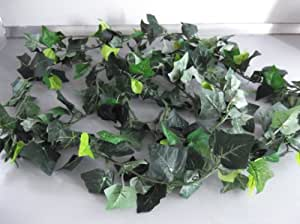 "HUGE 8FTx 8"" 250 LEAF ARTIFICIAL GREEN IVY GARLAND /CHRISTMAS/FOLIAGE"