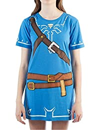 Womens Breath of The Wild Zelda Link Cosplay Tunic Large