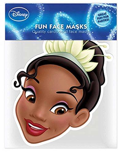 Tiana Princess Kostüm Disney - empireposter Disney Princess - Tiana Papp Maske, aus hochwertigem Glanzkarton mit Augenlöchern, Gummiband - Grösse ca. 30x20 cm