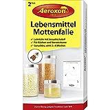 AEROXON Lebensmittelmotten Falle - 2 Stück - schnelle Wirkung - für Küchen und Vorratsräume