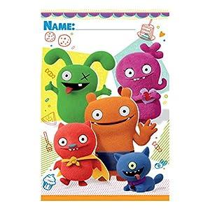 Amscan International Amscan 370467 - Lote de 8 bolsitas para muñecas, diseño de muñecos, color blanco y negro