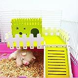 1Stück Holz klein Tier Hamster Maus Spielen House Zaun Käfig Betten Plattform Spielzeug