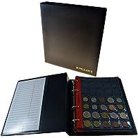 Álbum de monedas para 350 monedas (tipo M Álbum). 10 hojas con 350 compartimentos 27mm X 27mm.