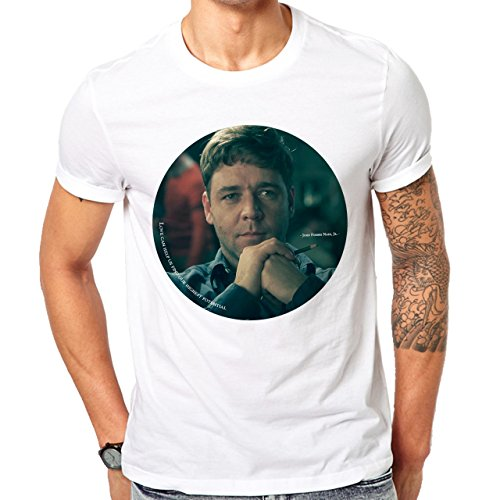 Love Can Help Us Find Our Highest Potential A Beautiful Mind Movie Moral John Forbes Nash Herren T-Shirt Weiß