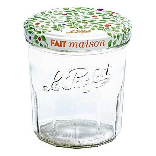 Le Parfait Marmeladengläser und Marmelade Töpfe-facettiert French Glas Jelly Gläser-Verbraucher Packungen fein 324ml - 11oz - Berry farblos -