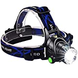 #8: Flipco Rechargeable Head Torch | Hands Free Head Flashlight LED Lmap Water Resistant Drop Resistant Head Lamp Spotlight for Camping Fishing Running Cycling Best Super Bright Headlamp Light