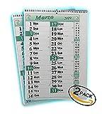 tipome.com Set 2 Calendari mensili da Muro - A3 30X42cm - 2 Pezzi