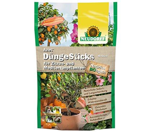 Neudorff 00276 Azet Dünge Sticks für Zitruspflanzen, 40 Stück - Zitrusfrüchte Bäume