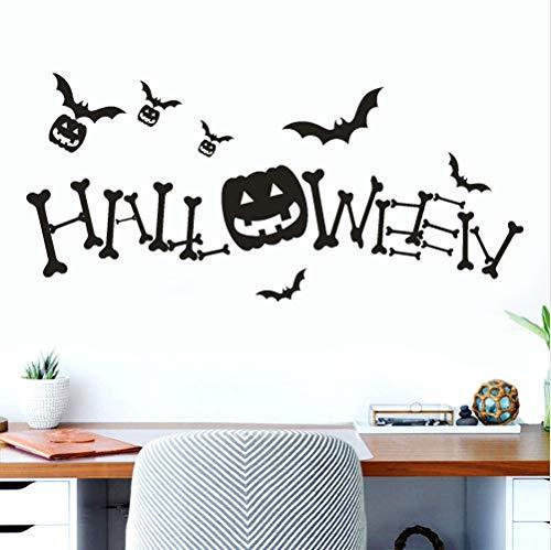 (asd137588 Happy Halloween Kürbis Knochen Wandaufkleber Fenster Home Decoration Aufkleber Dekor)