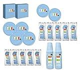 T&M Group Srl Kit Party Festa Compleanno Bambino 100x stoviglie plastica Colorate monouso Posate Bicchieri tovaglioli Piatti (100x)