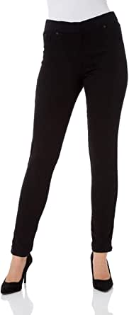 Roman Originals Women Jeggings Denim Jean Legging Ladies Stretch Cotton Trouser Smart Casual High Waisted Rise Pull On Elasticated Waist Skinny Thick Slim Fit Straight Leg