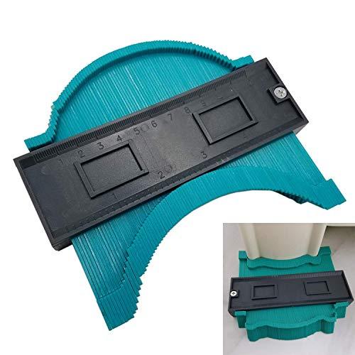 Contour Profile Gauge baldosas laminadas General Tools Duplicador Ewadoo plástico Perfil Irregular Medidor de medición multifuncional herramienta de carpintería - 1 paquete