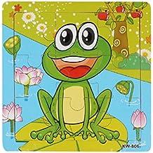 Koly® Niños de Madera 9 Pieces Jigsaw Juguetes para la Educación Infantil y Aprendizaje Puzzles Juguetes (B)