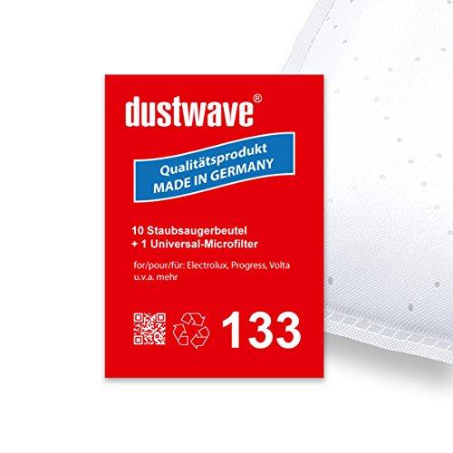 Sparpack - 10 Staubsaugerbeutel geeignet für Electrolux - E 10 / E10 Bodenstaubsauger - dustwave® Premiumqualität - Made in Germany