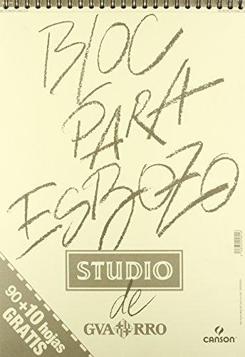 Cuaderno Guarro Studio para esbozos, Bloc de dibujo tipo Muguruza con 100 hojas Din A3
