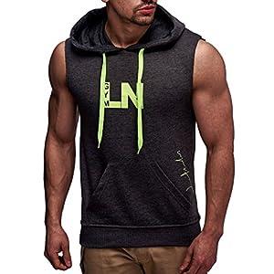 Leif Nelson Gym Herren Fitness T-Shirt Weste Trainingsshirt LN06260