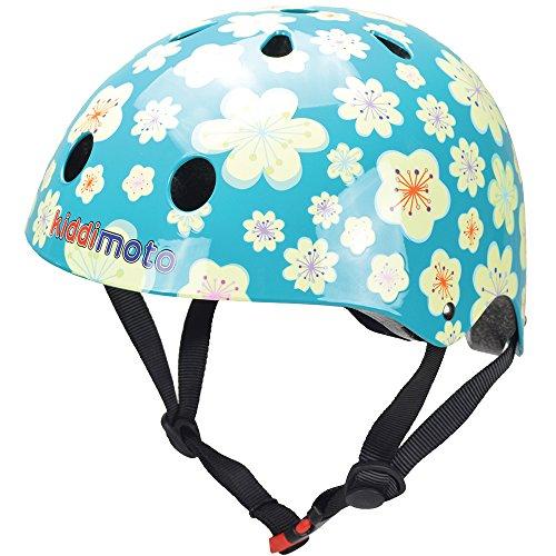 kiddimoto KMH068/S - Fahrrad Scooter Helm für Kinder Fleur, Gr.S (2-5 Jahre) (Für Bell Helm Fahrrad Mädchen)