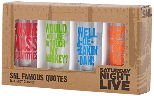 Saturday Night Live Best of Collection No.2 4- Tall Shot Glass by Saturday Night Live Tall Shot Glass
