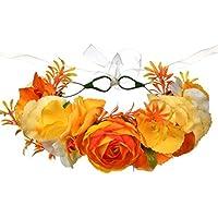 BESTOYARD Hawaii Hair Garland Flower Wedding Headwear Diadema Floral para Mujeres Niña (Amarillo)