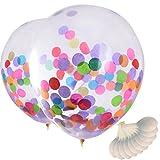 Mudder 12 Pulgadas Globos con Confeti Colorido para Decoraciones de Fiesta Celemonia y Celebración