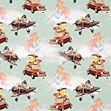 Fabulous Fabrics Baumwolljersey Luftballonfahrt im Hamster