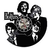 Einzigartige The Beatles Wanduhr hergestellt mit Vinyl Record