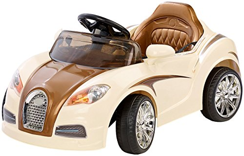RC Auto kaufen Kinderauto Bild 4: Playtastic Kinderelektroauto: Edles Elektro-Kinderfahrzeug mit Fernsteuerung (Kinderauto)*